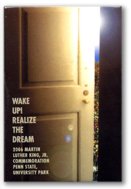 "Button: Theme: ""Wake Up! Realize the Dream"" Designer: Katie Causer"