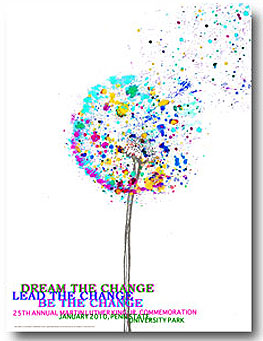 """Button: Theme: """"Dream the Change, Lead the Change, Be the Change."""" Designer: Lauren Barry"""