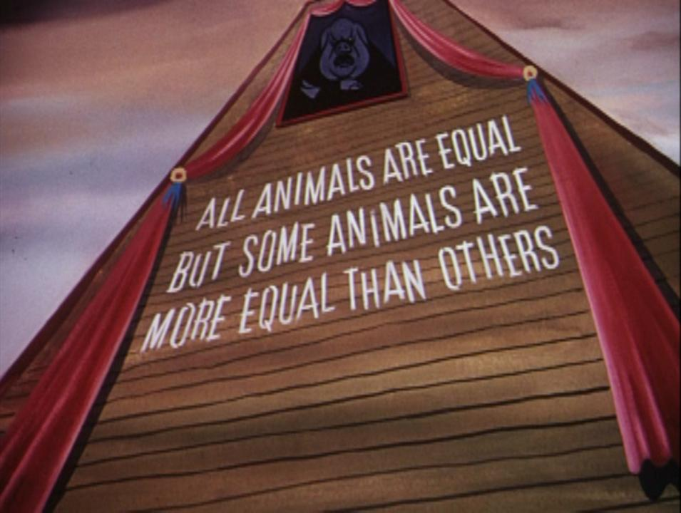 we are all equal but some are more equal