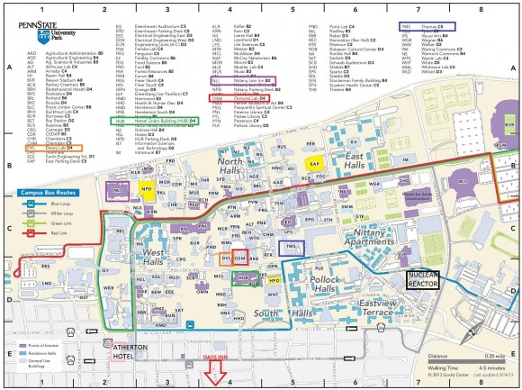 CUWiP Campus Map