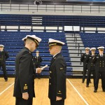 The Battalion conducts a Service Dress Blue Inspection.