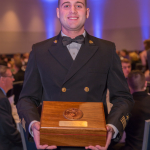 Midshipman 1/C Ryan Sheehan received the Captain Todd Siebert Award.