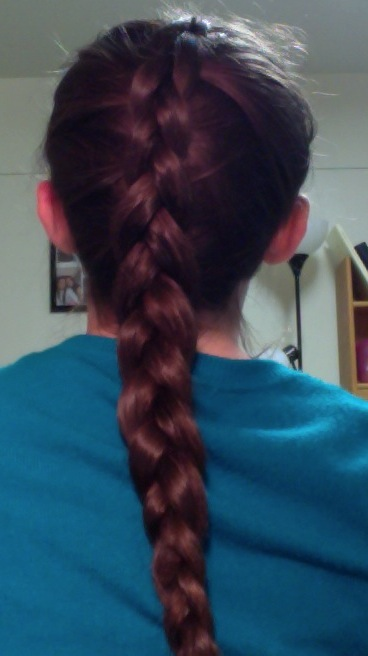 of the braid is just like a normal french braid short