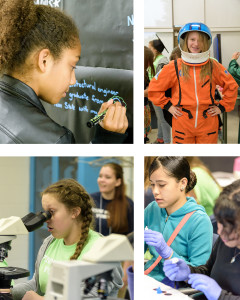 Photo collage of students participating in Pathways 2016.