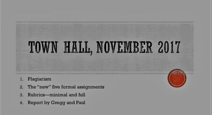 Town Hall Notes: Possible New Assignments, Effective Rubrics, Promotion Transparency