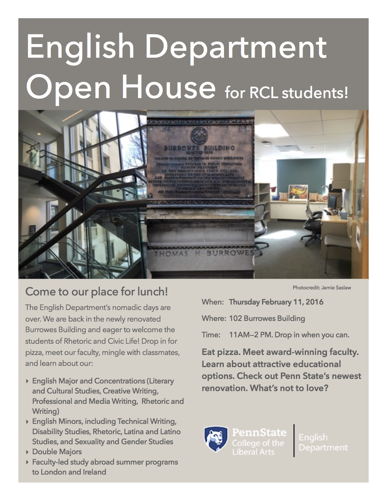 English Open House for RCL