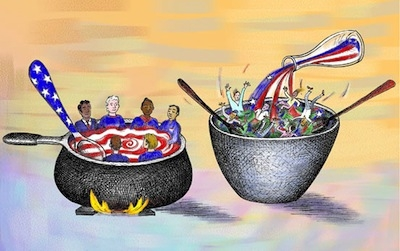melting pot ethnic stew tossed salad metaphors that describe american culture 'treasonous' amnesty puts 'foreign invaders' over 'american america is not and should not be a society with a single pervasive national culture the melting pot and tomato soup metaphors do not describe the true america america is instead a mosaic, a salad, or even a tossed.