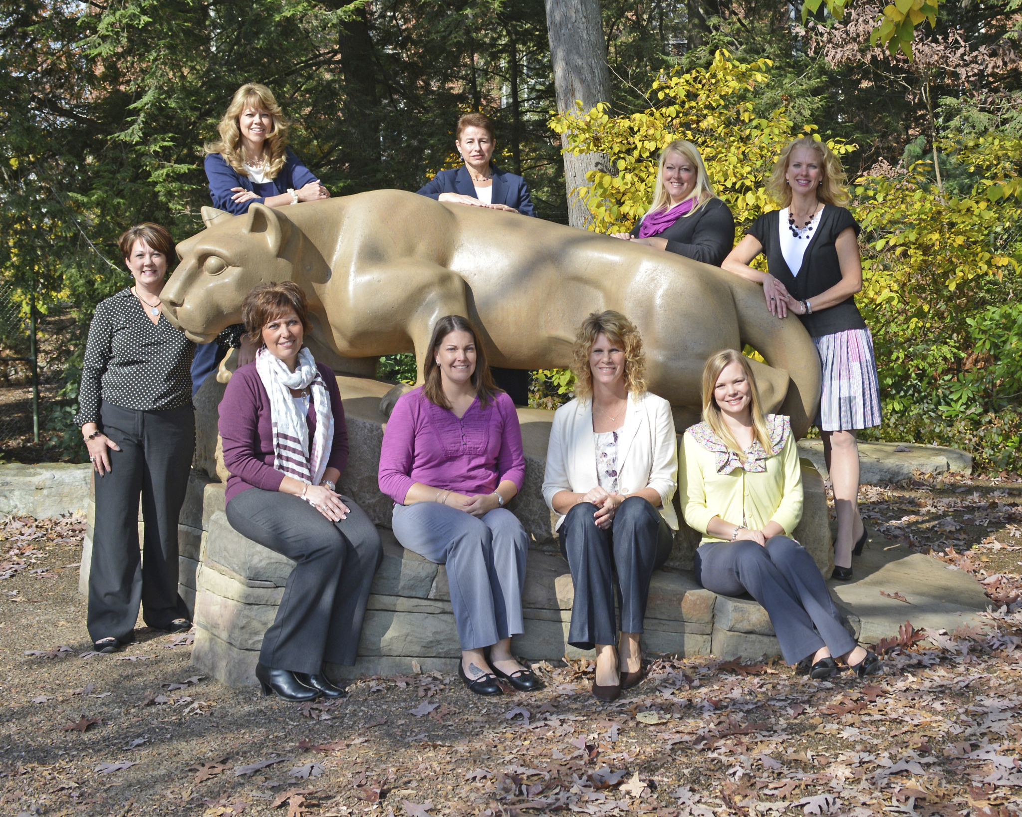 PSEOP Executive Board: Back row (L-R) Laurinda Benner (president ex-officio), Pamela Stauffer (president), Diane Collins (vice president), Amy Long (treasurer ex-officio), Mindy Terpack (secretary ex-officio). Bottom (L-R) Cherish McAulay (assistant treasurer), Michelle Hill (secretary), Kim Swistock (assistant secretary), Alesha Gavlock (treasurer).