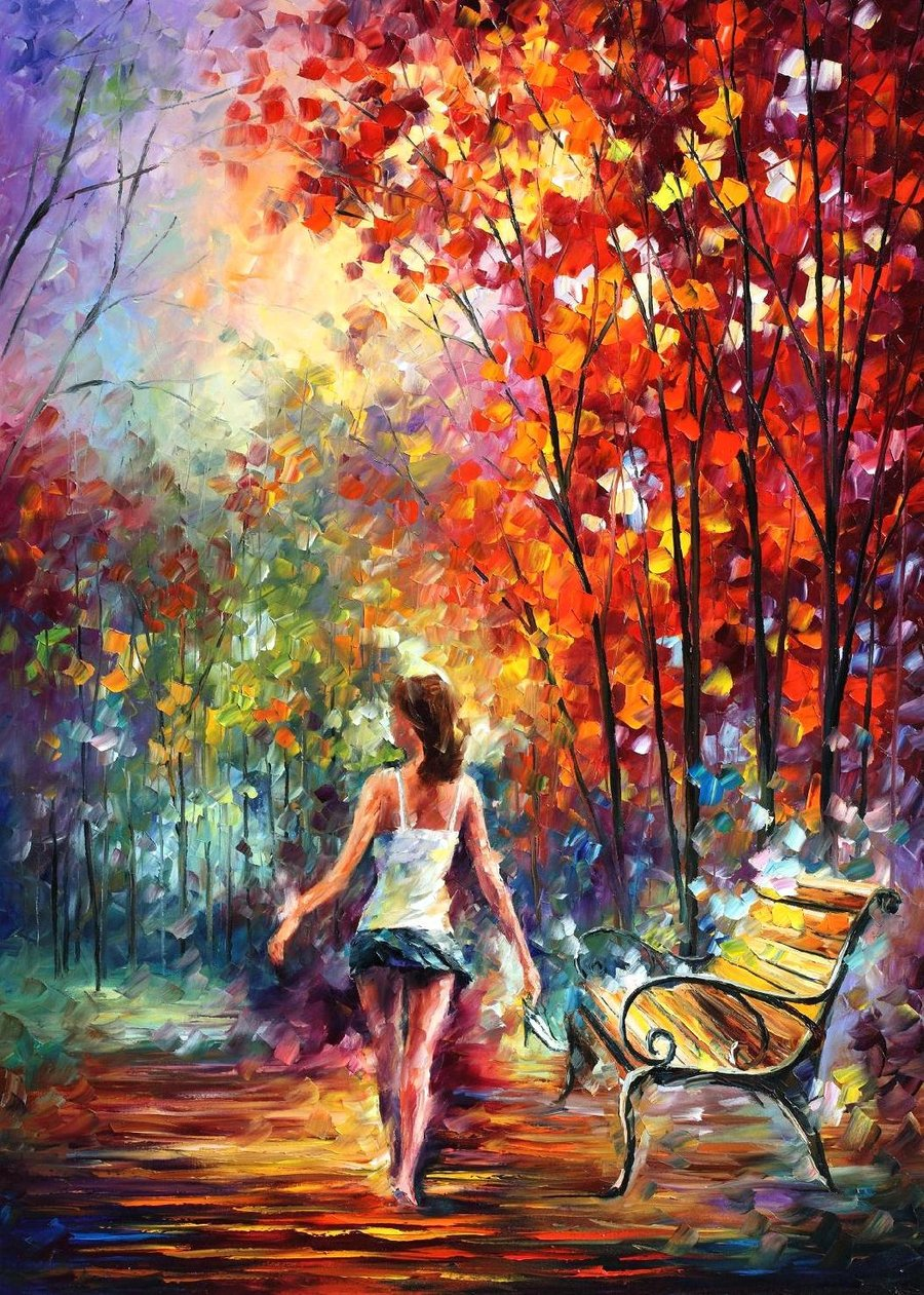 The colors of lenoid afremov for Artist canvas paint color