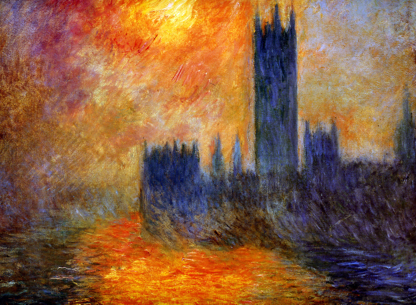 Claude monet houses of parliament for The sunhouse