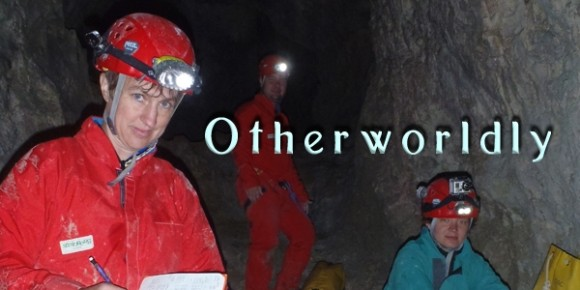 Jenn Macalady and colleagues in the Frasassi cave system in Italy,