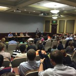 Photo of the room during the Ethics of GMOs: A Panel Discussion