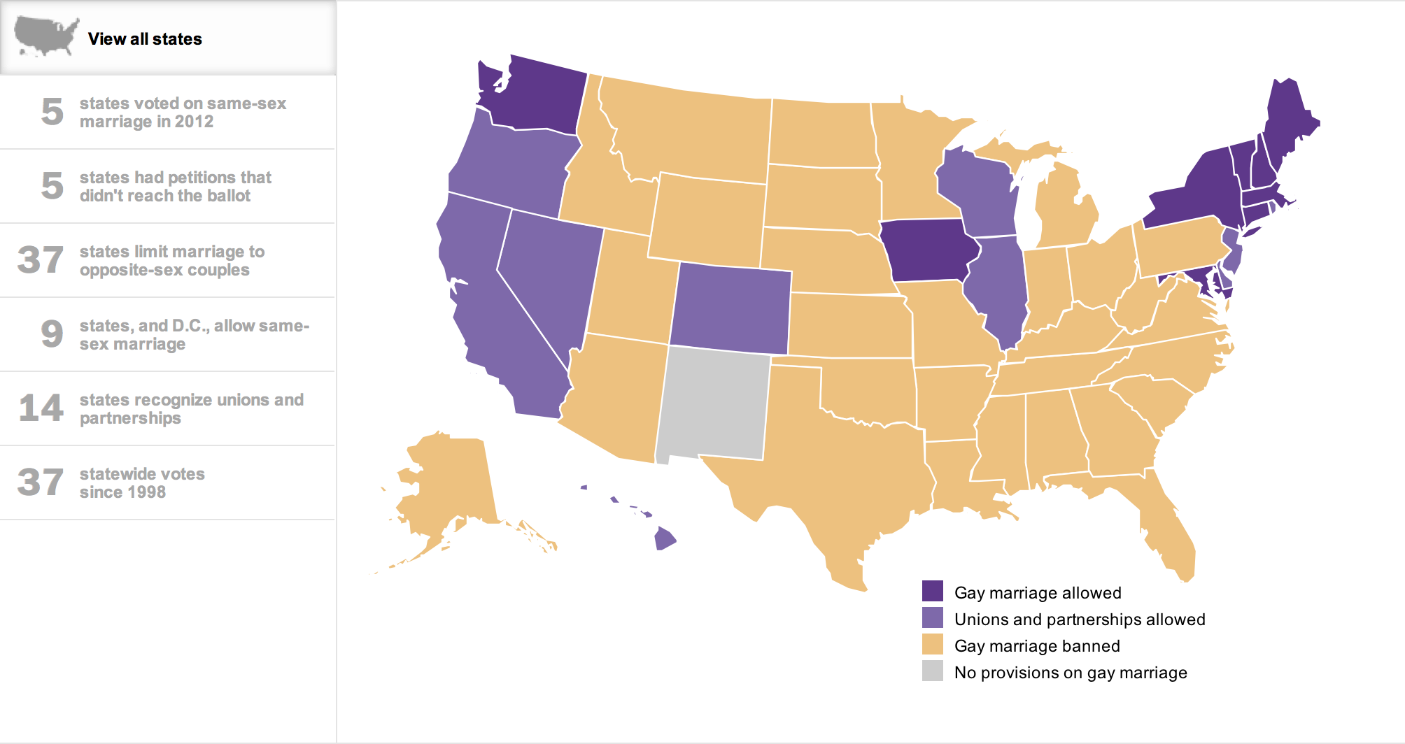 arizona same sex marriage ban states in North Vancouver