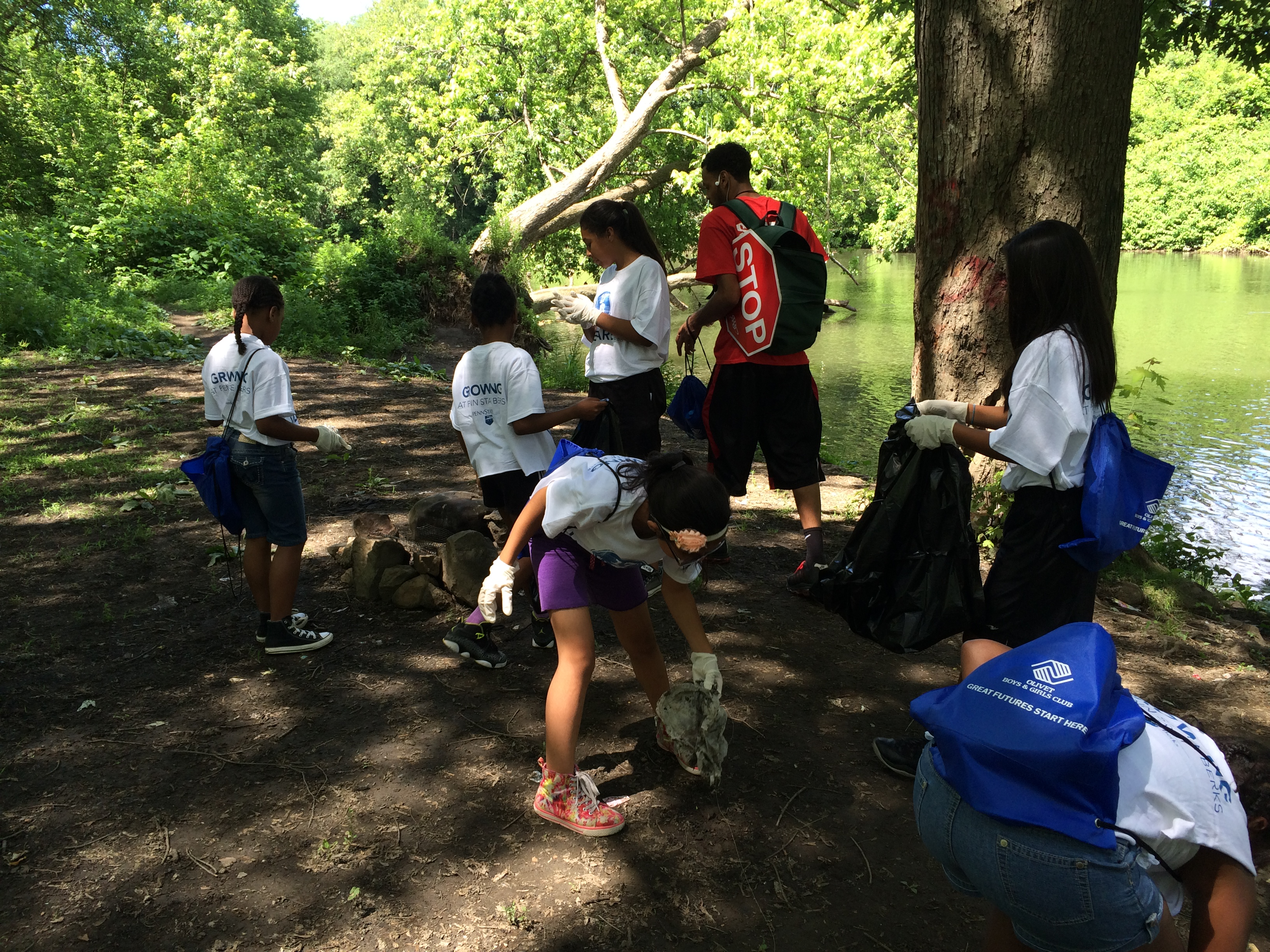 Girls Cleaning Trail Summer 2014