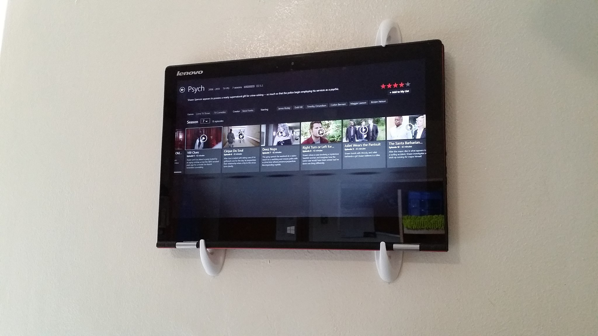 Tablet Wall Hooks Tv Amp Phone Volume Probs Silly