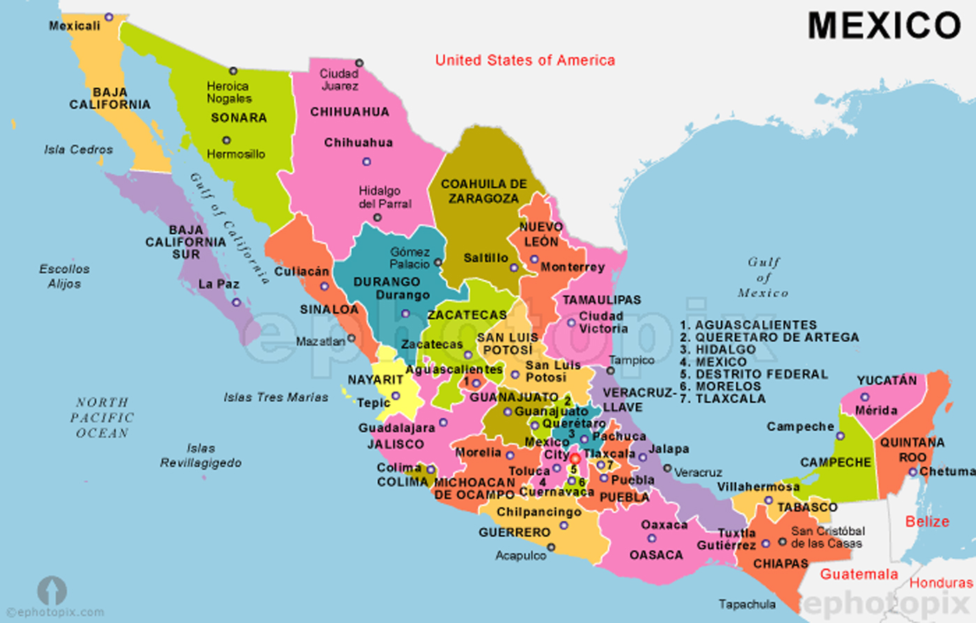 Mexican Map Gallery – Mexicanmap