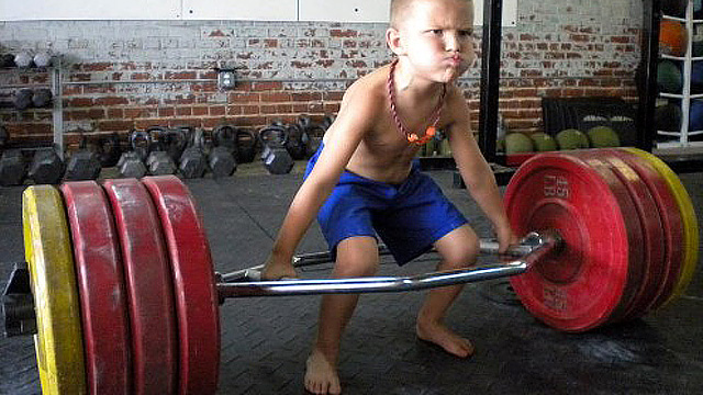 Image result for weight lifting child