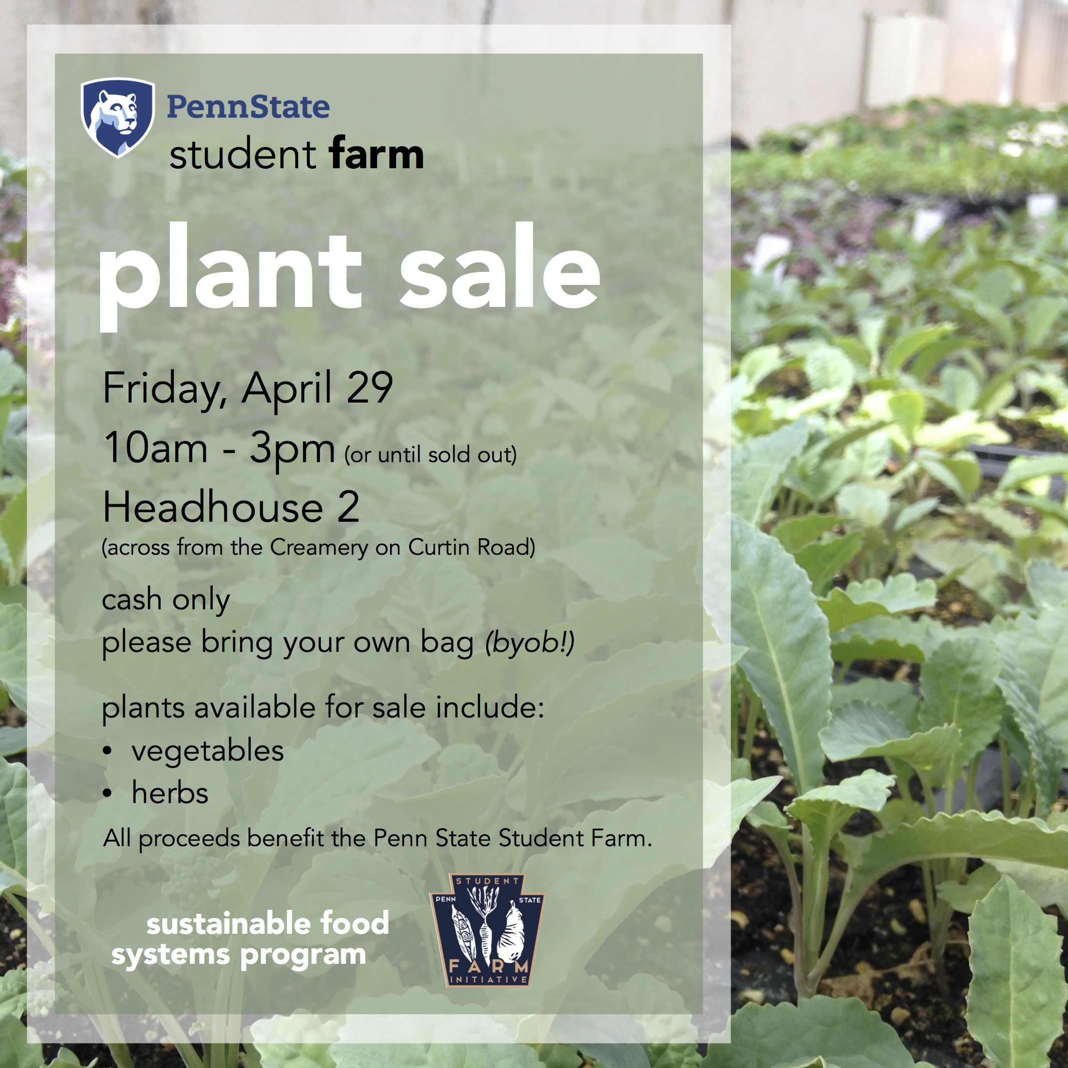 2016 Plant Sale Flyer Email