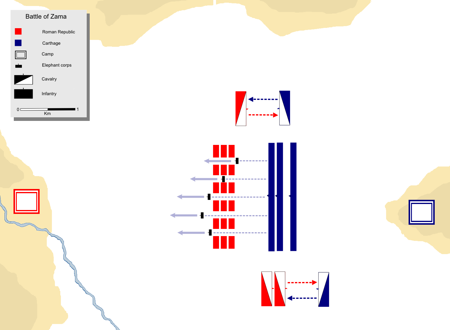 Battle Of Zama BC The Success Of The Roman Republic And Empire - Ancient rome map battle sites