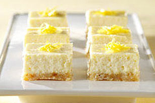 Refrigerate the lemon cheesecake bars for 3 hours.