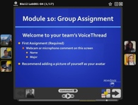 a sample slide in a voice thread