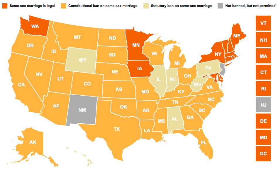 Same sex marriage us map picture 92