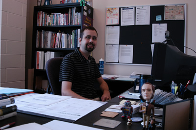 Me at my desk in my office in Davey Lab