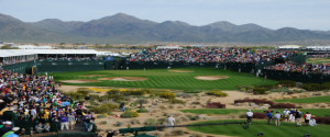 16th hole at TPC Scottsdale https://www.mygolfconcierge.net/arizona-golf-courses/tpc-scottsdale-stadium-course/