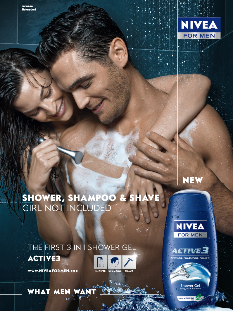 nivea for men ad campaign Nivea for men maintains the sophisticated timeless solution for men but have noimage with the younger generations of todaytheir strategic alliance with phillips electric shavers has given them a chance to focus on the ―shaving‖specific part of the men's grooming market, while sustaining their skin care products at the same timenivea for.
