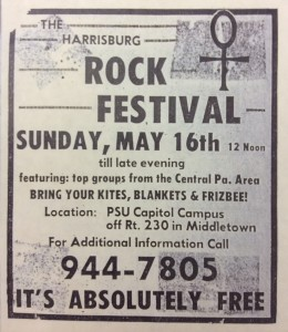 Harrisburg Rock Festival, Sunday, May 16, 1971.