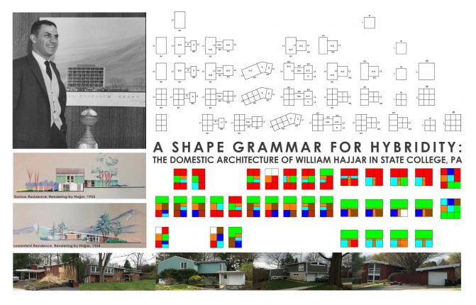 A Shape Grammar for Hybridity: The Domestic Architecture of William Hajjar in State College, PA