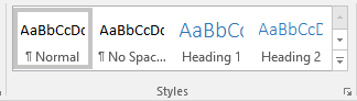 Styles Pane in Windows Word