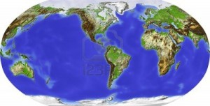 11687641-globe-in-robinson-projection-centered-on-america-shaded-relief-colored-according-to-terrain-height-s
