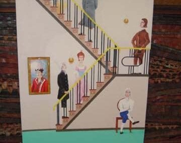 Untitled (historical figures on staircase)