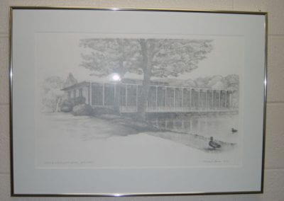 Harry E. Slep Student Center, Pond View