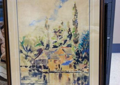 Untitled (Watercolor lakehouse)