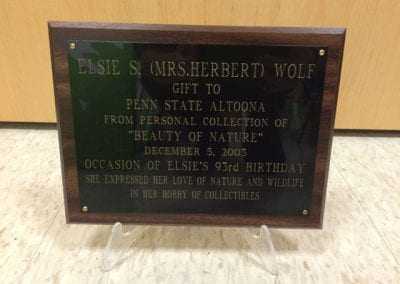Plaque of Wolf Collection Gift