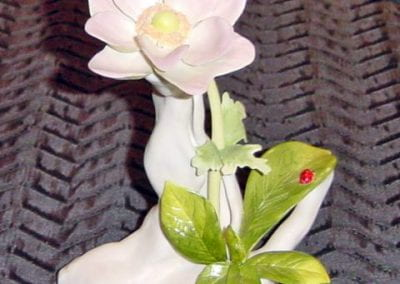 (Cybis) Windflower, Bisque, Decorated