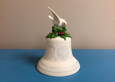 (Cybis) Christmas Bell with Dove on Top