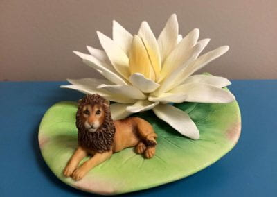 Water Lily with Lion