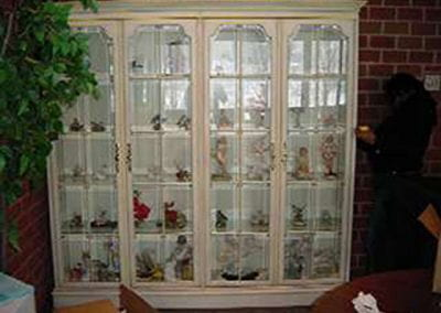 Custom Made Provincial Style Display Cabinet
