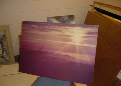 Untitled (airplanes and purple sky)