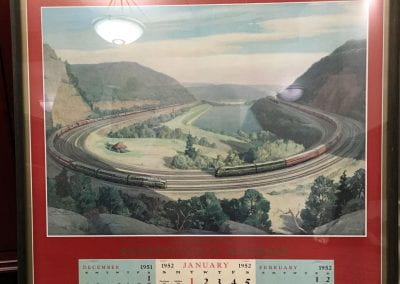 The Horseshoe Curve In Southern Alleghenies Mountains, West of Altoona, Pennsylvania