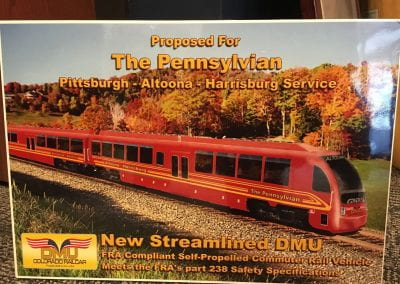 Proposed for The Pennsylvanian Pittsburgh-Altoona-Harrisburg Service