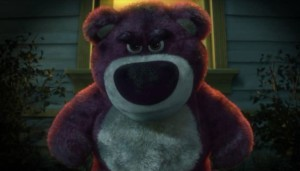 An image of Lotso displaying his hatred for humans.