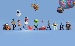 An image featuring the main characters of a few of the Pixar movies.
