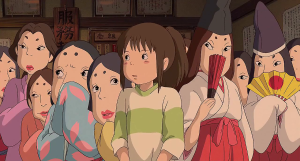 Chihiro (middle) surrounded by yuna.