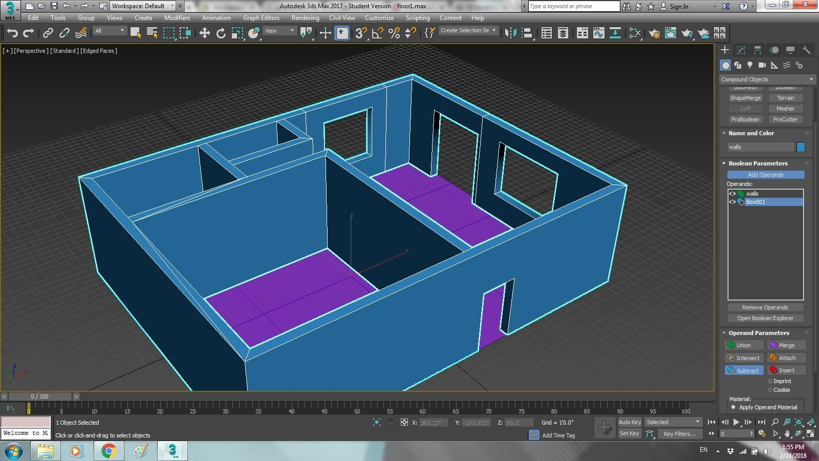 First Steps in 3Ds Max 2017 – Polygon Modeling – Blog