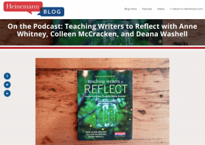 Screenshot of book cover featured on Heinemann podcast site