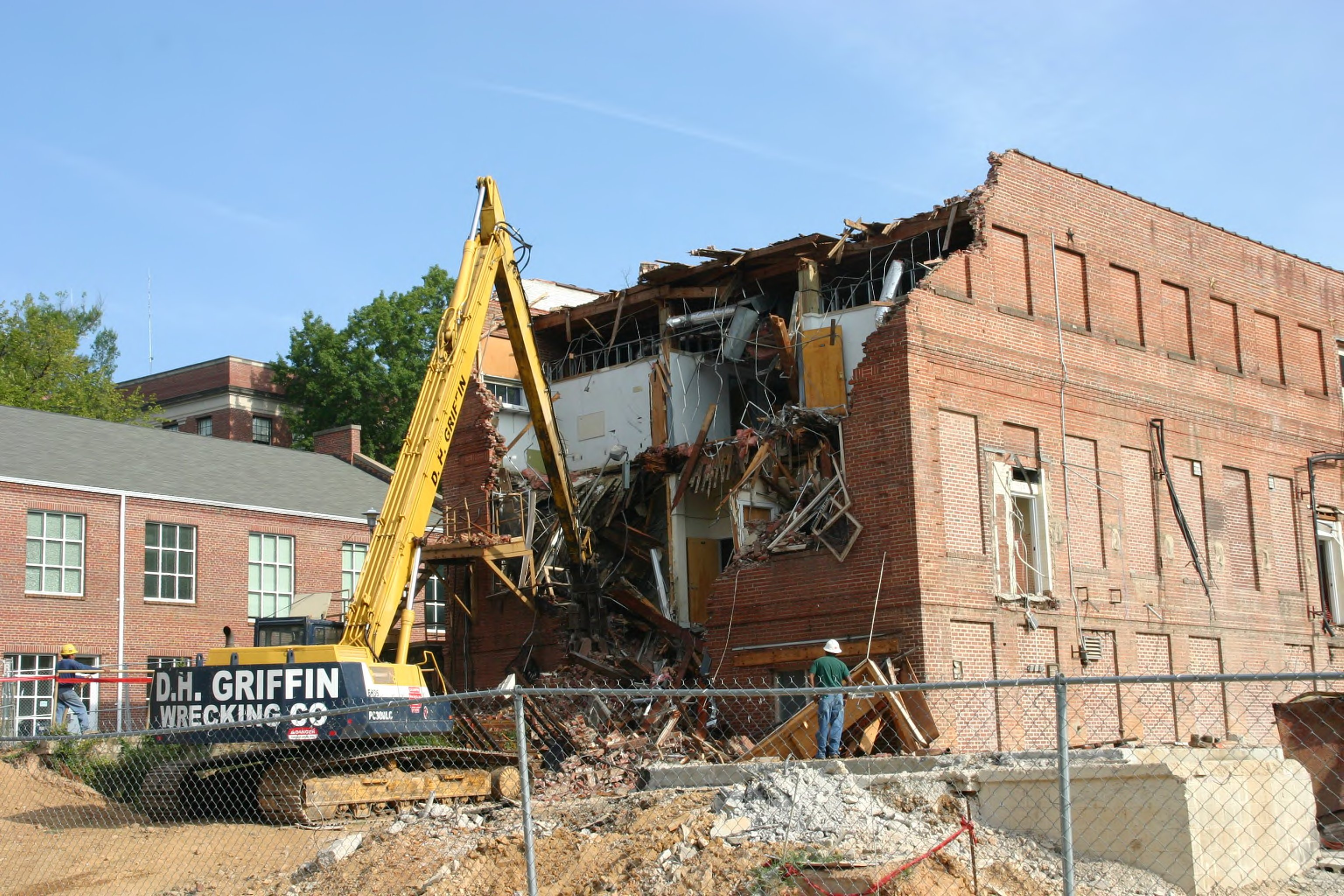 SAS Hall Demolition in Raleigh, NC